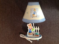 Peter Rabbit table lamp, baby's room