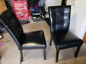 FOR SALES - 2 New Black Faux Leather Chairs