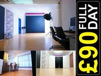 £90/DAY LONDON Photo Studio Hire Professional Photography Video Casting Space Film Location CHEAP