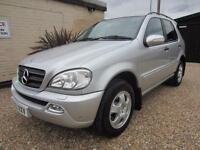 MERCEDES-BENZ ML 270, 2.7 DIESEL AUTOMATIC, FULL SERVICE HISTORY FULL LEATHER