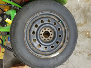 Winter Tires 235/60 R16 Michelin Ice 3 with Universal Steel Rims