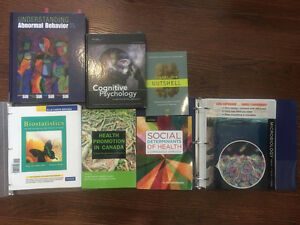 VARIOUS Health, Psychology and Biology Textbooks