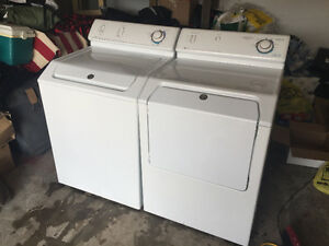 Maytag white top load washer front load electric dryer