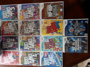 WII Just dance and other dance games