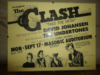 THE  CLASH  HAND BILL AUTOGRAPHED