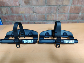 2 x genuine Thule Bike Carrier 591 Replacement Wheel Holder, Strap + C