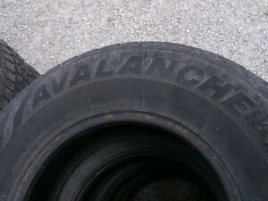 4 USED AVALANCHE EXTREME 215/65R17 MUD & SNOW TIRES
