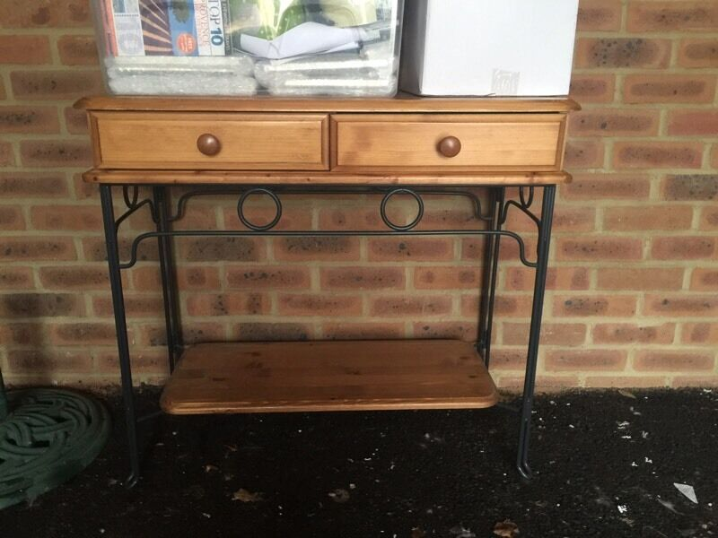 Console table for salein Deal, KentGumtree - Console table in good condition measures 82w x 40d x 74h (cms). Two drawers and metal storage shelf