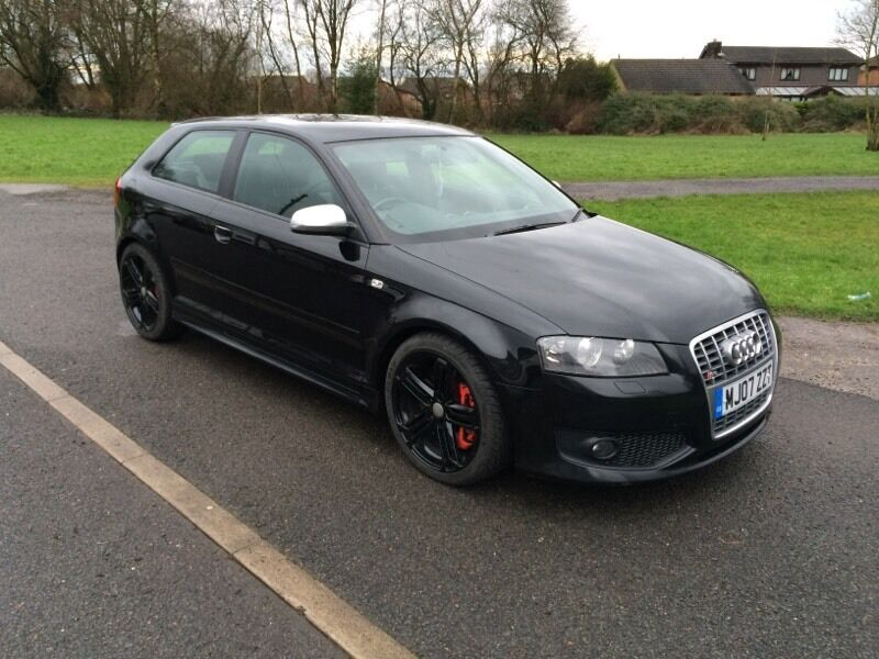 audi s3 2 0 tfsi quattro phantom black 3 door 265 bhp 2007 clean example hpi clear now sold in. Black Bedroom Furniture Sets. Home Design Ideas
