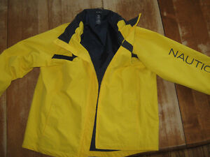 raincoat/sailing coat, yellow, youth  Nautica XL (size 12-14)