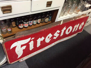 HUGE VINTAGE FIRESTONE SIGN