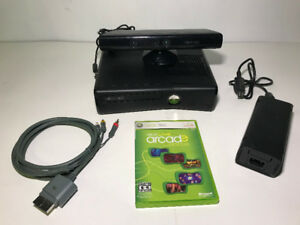 MICROSOFT XBOX 360 S CONSOLE W/ KINECT TO FIX OR FOR PARTS - FJN