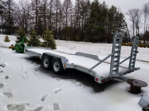 "2013 80"" X 20' 5 ton L&B Galvanized Float Trailer"