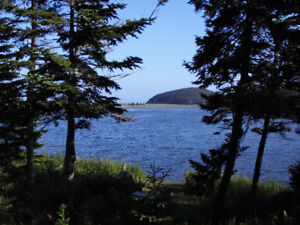 River frontage and Ocean View on Cape Breton Island, Nova Scotia