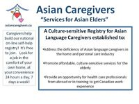 Asian Language Caregivers Fluent in Cantonese/Mandarin and More!