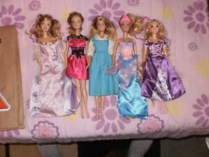 Assorted Barbie's, Knockoffs and Accessories