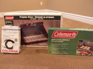Two 4 person tents, Coleman Stove and accesories Windsor Region Ontario image 3