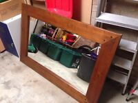 Solid wood large mirror