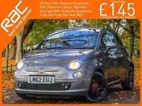 2012 Fiat 500 1.2 Street Dualogic Auto Bluetooth Air Con 16in Alloys Just 1 Priv
