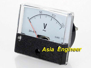Rectangle Analog Volt Panel Meter Gauge AC 150V