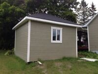 15x15 large shed (GARAGE) electric door build by carpenter