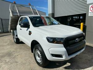 2016 Ford Ranger PX MkII XL 2.2 Hi-Rider (4x2) White 6 Speed Automatic Super Cab Chassis
