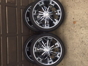 "24"" Lexar Rims with Maxxis low pro tires"