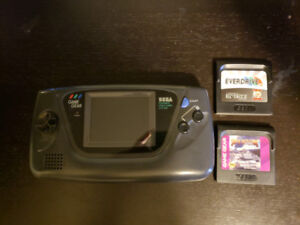 Sega Game Gear w/ 2 Carts