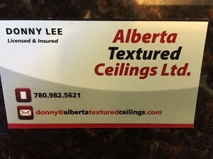 Textured ceilings and ceiling repairs Strathcona County Edmonton Area image 1