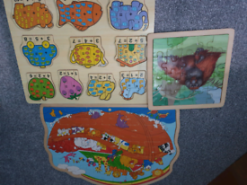 Wooden puzzles set of 3