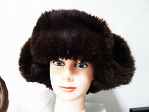 RUSSIAN FUR HAT shapka ushanka treukh EAR FLAPS trooper SABLE Kitchener / Waterloo Kitchener Area image 4