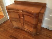 Lovely Art Deco sideboard -zebra wood
