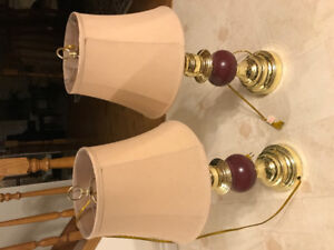 A pair of table lamp and a study lamp for quick sale