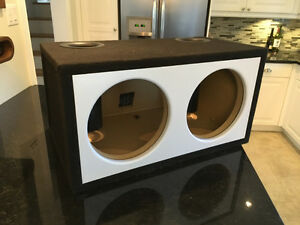"""Dual 12"""" Subwoofer ported box"""