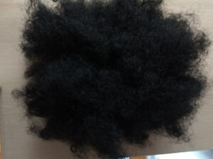 Ponytail hair extension - black afro puff