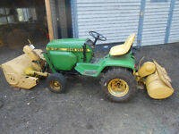 John Deere 317 with 3 attachments