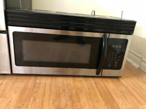 "Frigidaire 30"" stainless steel over the range microwave exhaust"