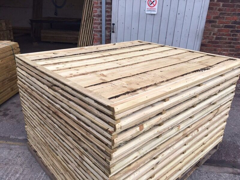 🔨🌟The Best Quality Tanalised Waneylap Garden Fence Panels