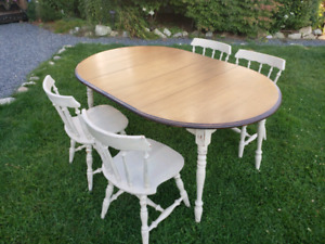 FREE HRM DELIVERY- RUSTIC RESTORED DINING SET