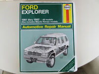 Ford Explorer shop manual, for maintenance and repairs