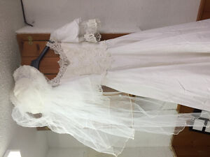Vintage Wedding gown & flower girl dresses