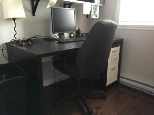 Bureau travail et commode Ikea