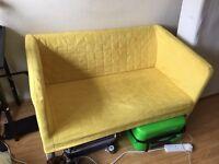 2 x lounge yellow sofas