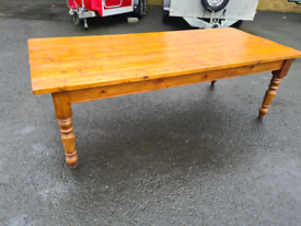 Large pine farmhouse table *just been restored *