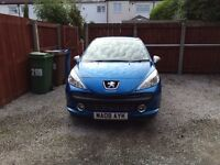 Peugeot 207 M-Play 1.4 blue great condition 22,488 miles
