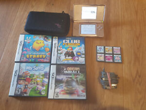 Nintendo DS lite pink with charger, case and 10 games