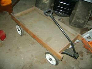 CHILDS VINTAGE COUNTRY ESTATE WOODEN WAGON