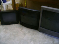 "TV 27"", Sanyo 20""RCA and 17"" Diji Star"