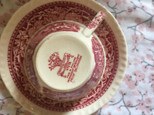English  China tea set and salad plates