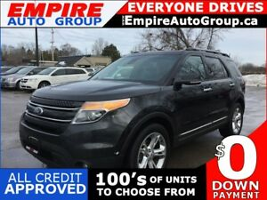2013 FORD EXPLORER LIMITED * AWD * LEATHER * NAV * REAR CAM * PA